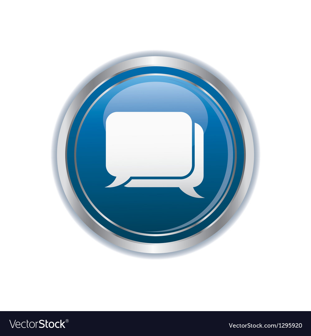 Speech bubbles icon vector
