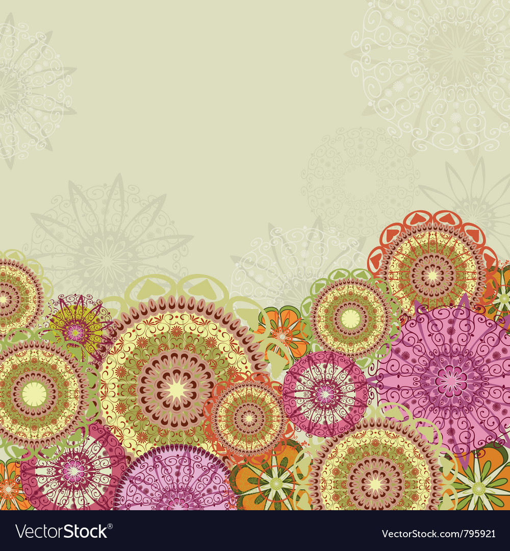 Abstract design with arabesques vector