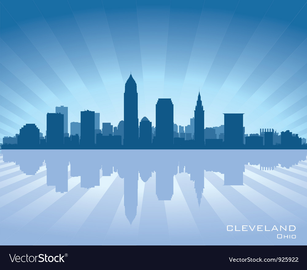 Cleveland ohio skyline vector