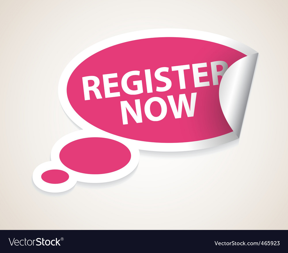 Register now label vector
