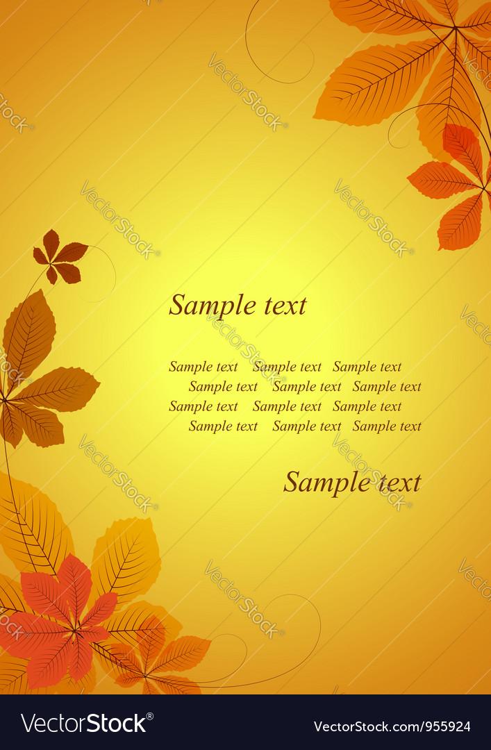 Autumn background vector