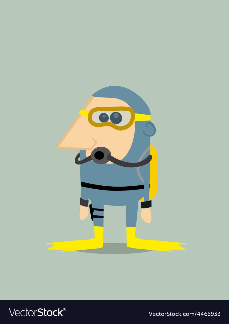 Cartoon Diver Vector 4465933