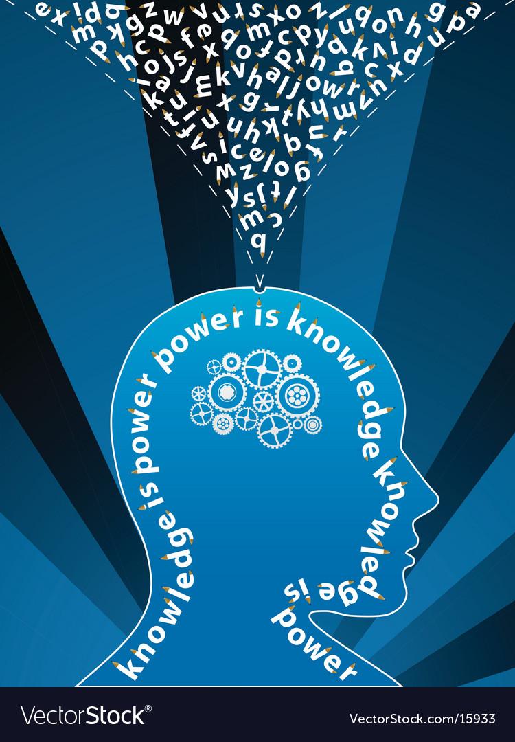 Creative mind background vector