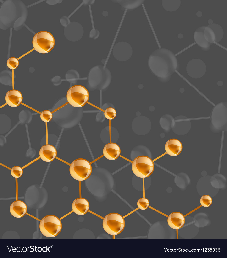 Molecules structure with copy space for your text vector