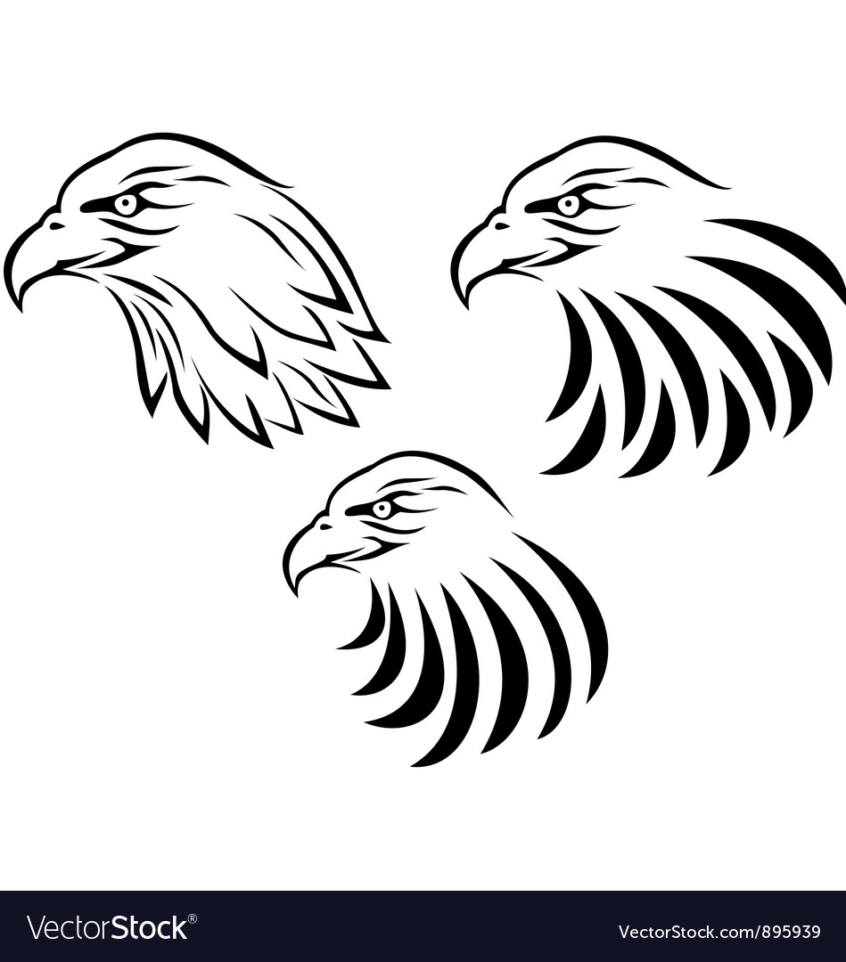 Eagle head tattoo vector  Eagle Head Tattoo Drawing