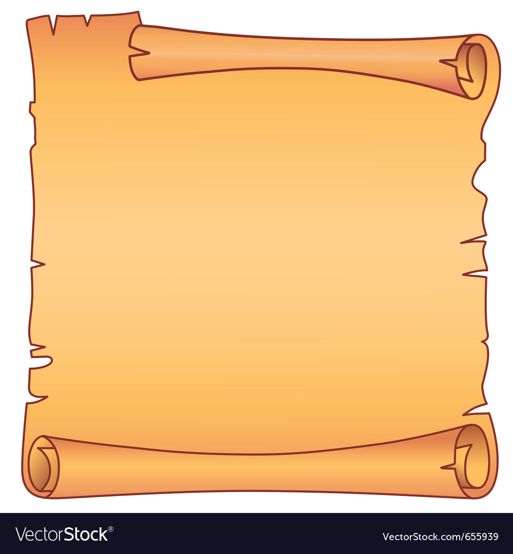 Parchment square scroll vector