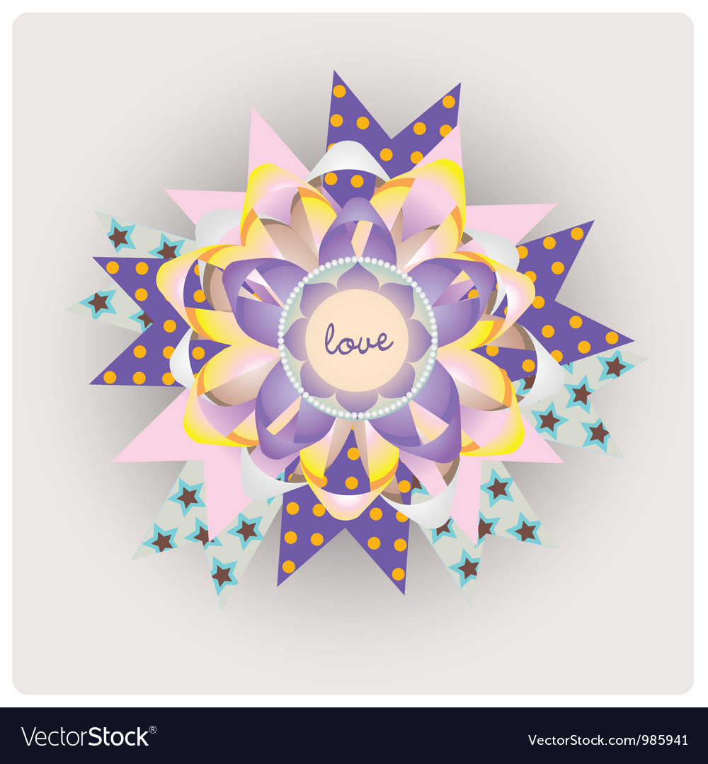 Magic love paper jewelry vector