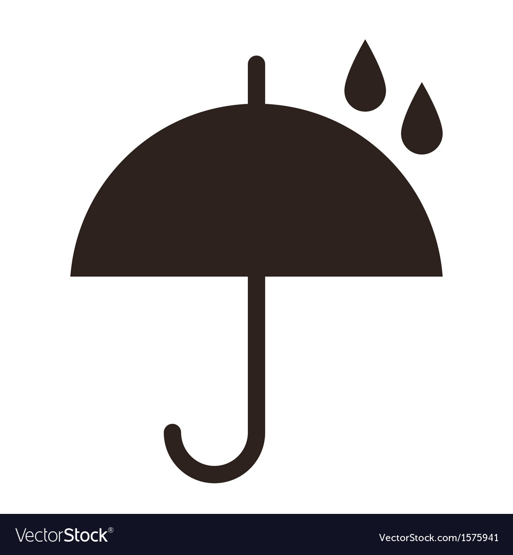 Umbrella with raindrops vector