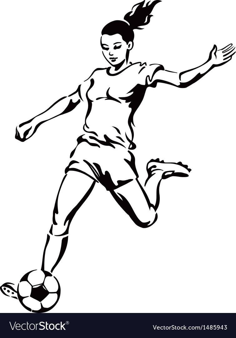 Girl Soccer Silhouette Vector Soccer football female player
