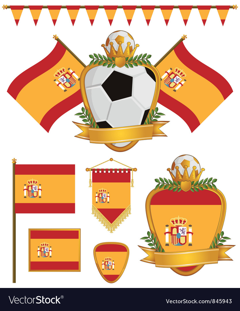Spain flags vector