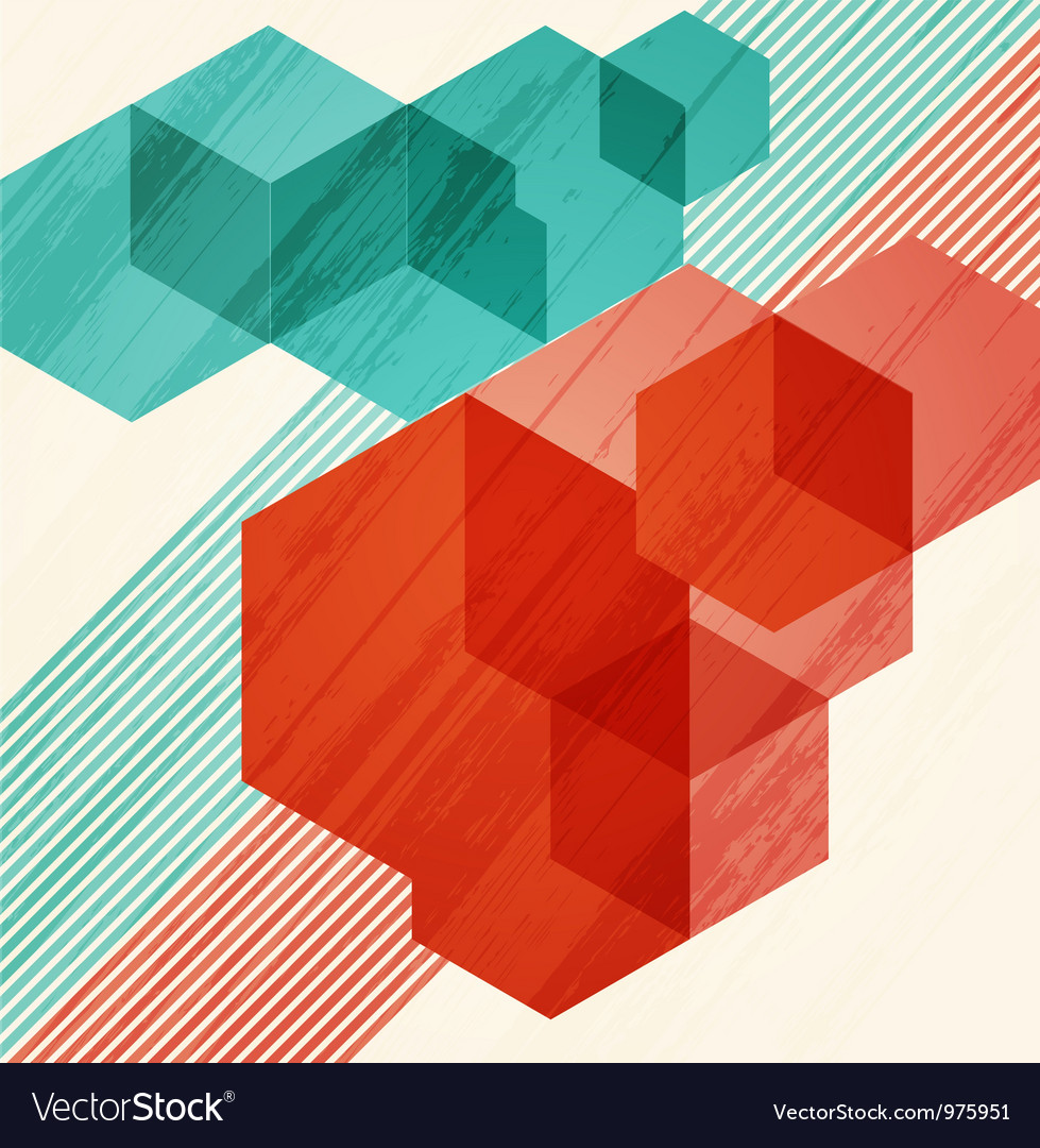 Abstract background cubism vector