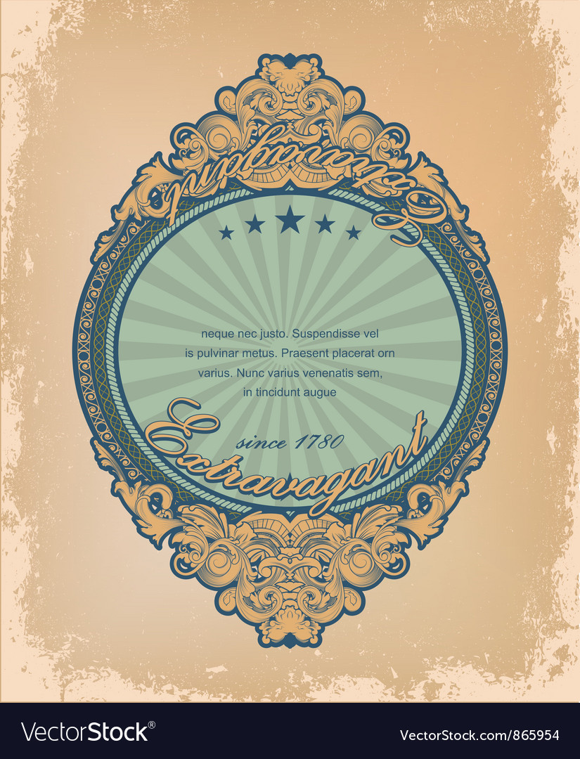 Vintage label with grunge background vector