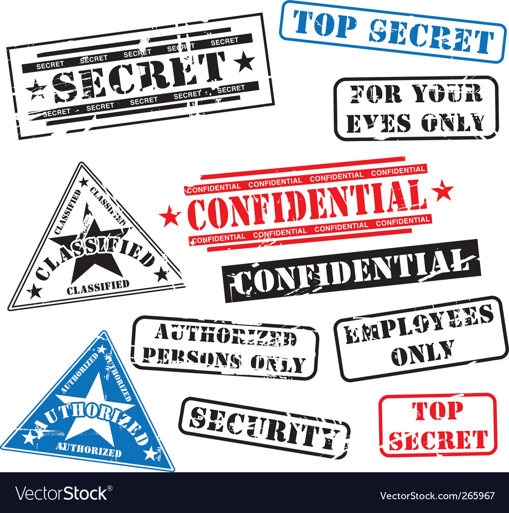 Security rubber stamps vector