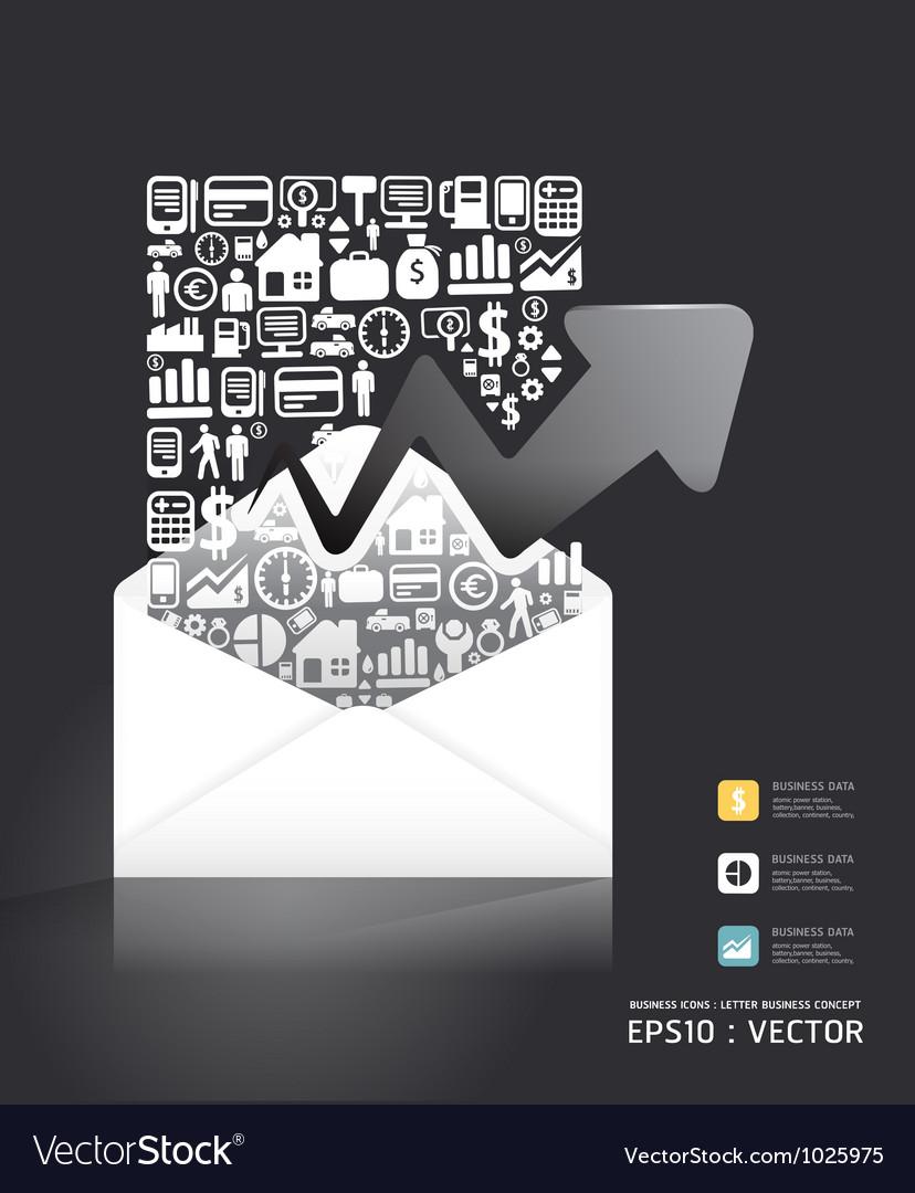 Letter paper shape concept vector