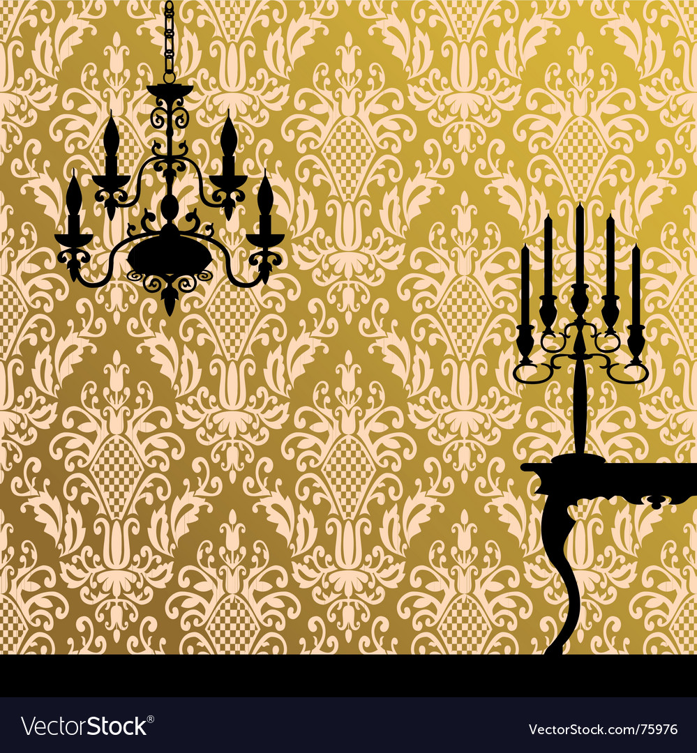 Damask and interior vector