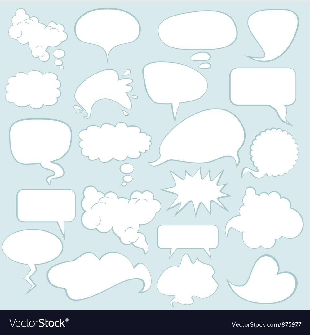 Speech balloons vector