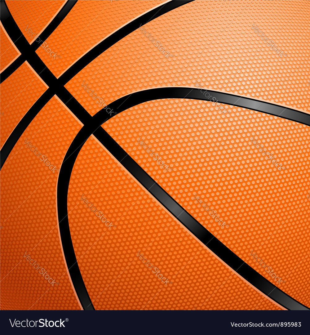 Closeup of a basketball vector