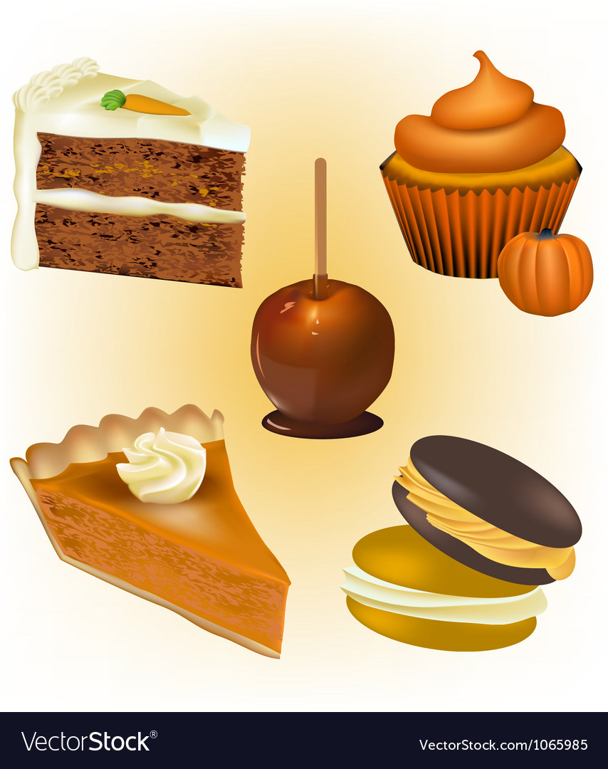Cake and pastry vector