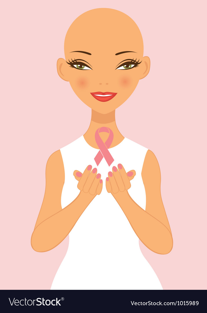 Breast cancer awareness lady vector