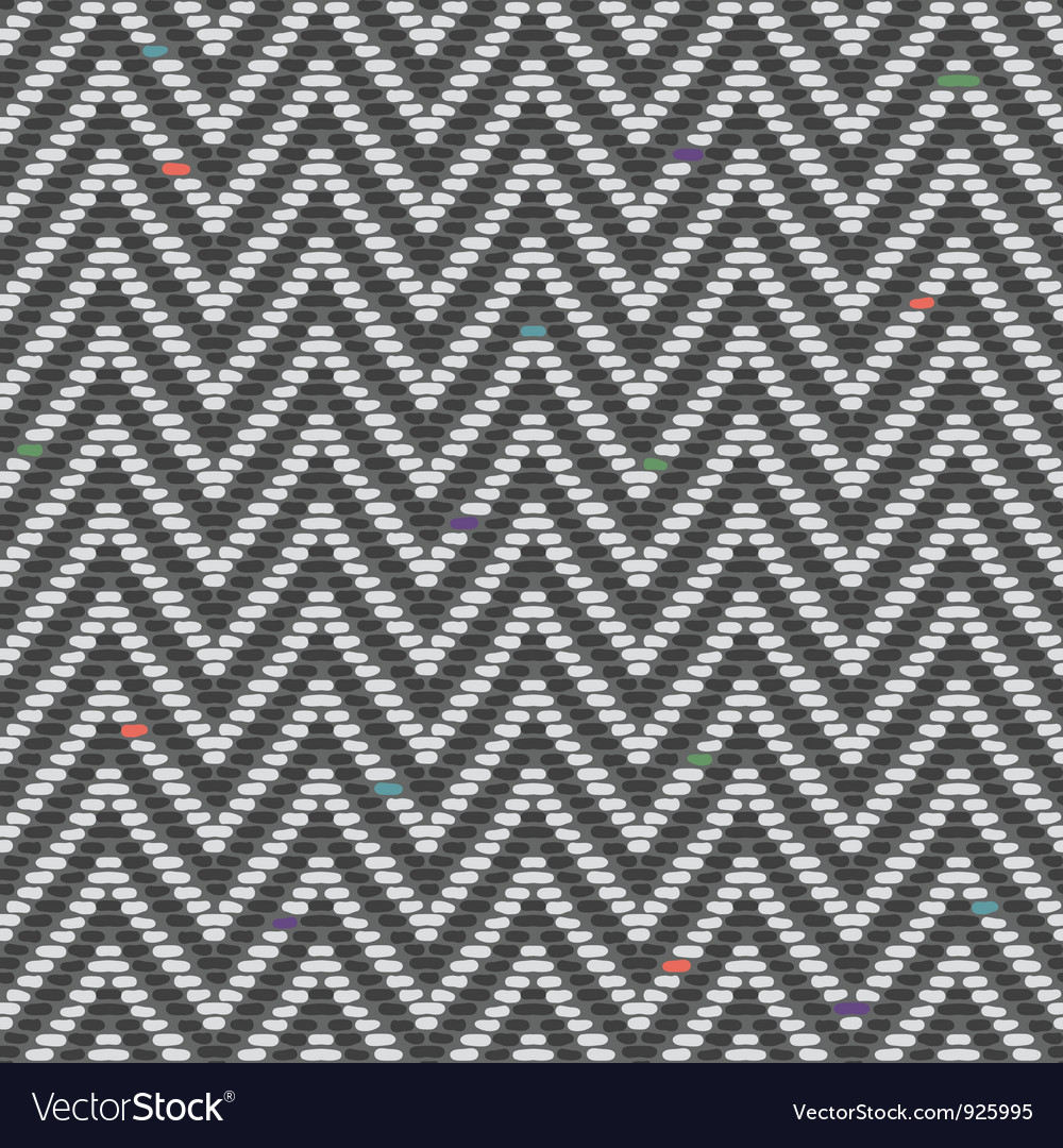 Herringbone tweed pattern in greys repeats vector