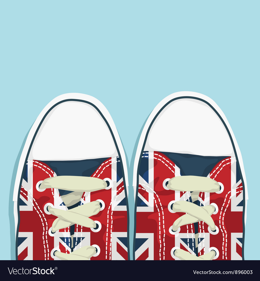 Uk shoes vector
