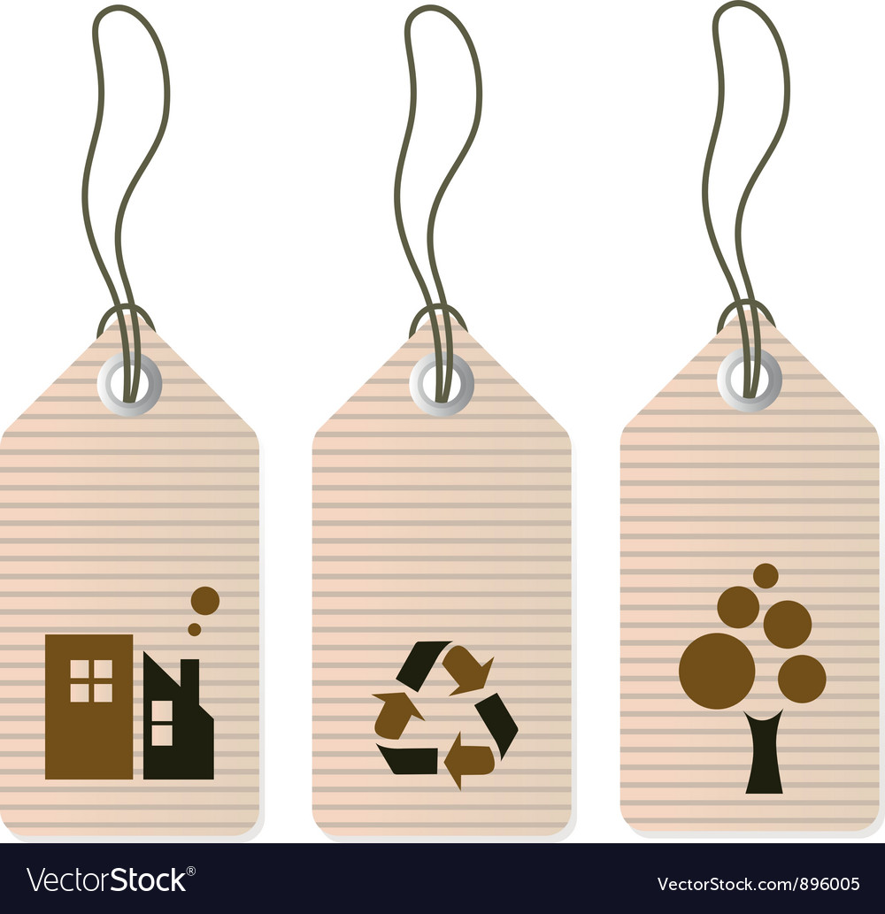 Eco tags set isolated on white vector