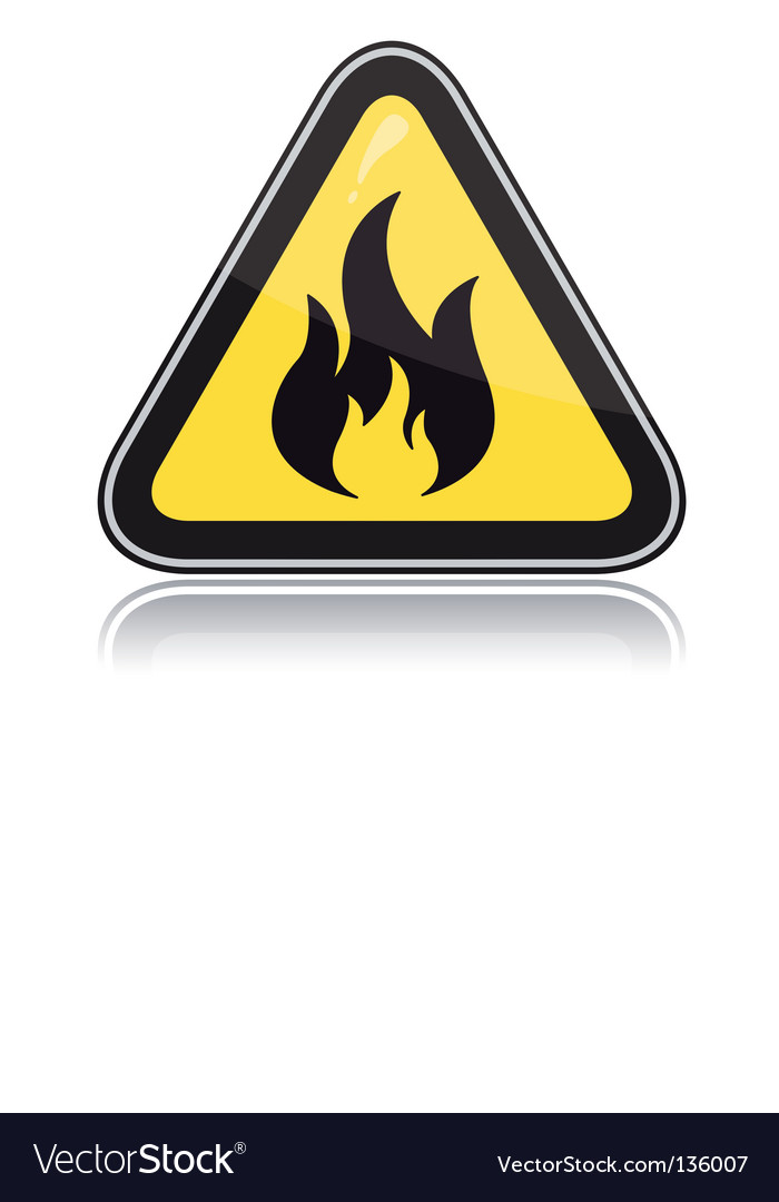 Yellow triangular warning sign vector