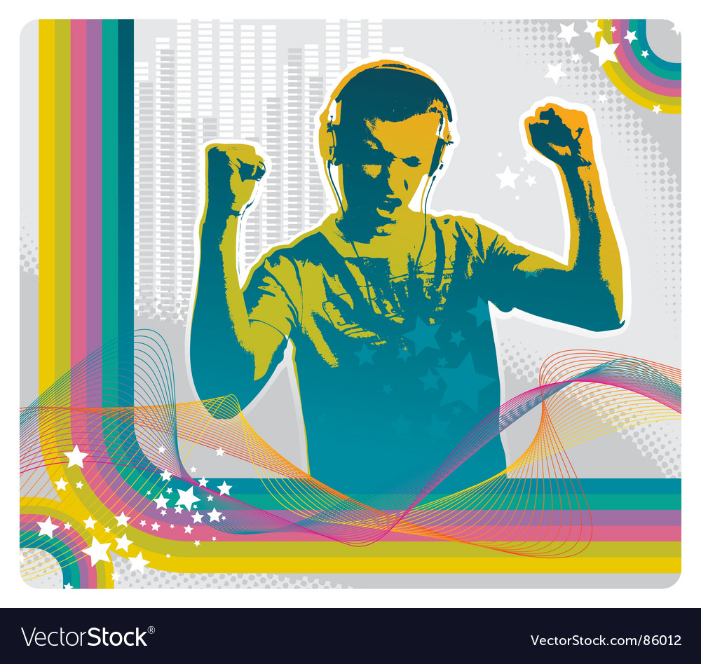 Feel the music vector