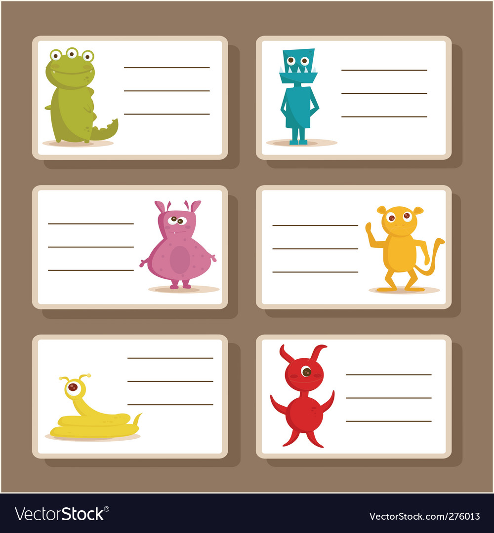Monster cards vector