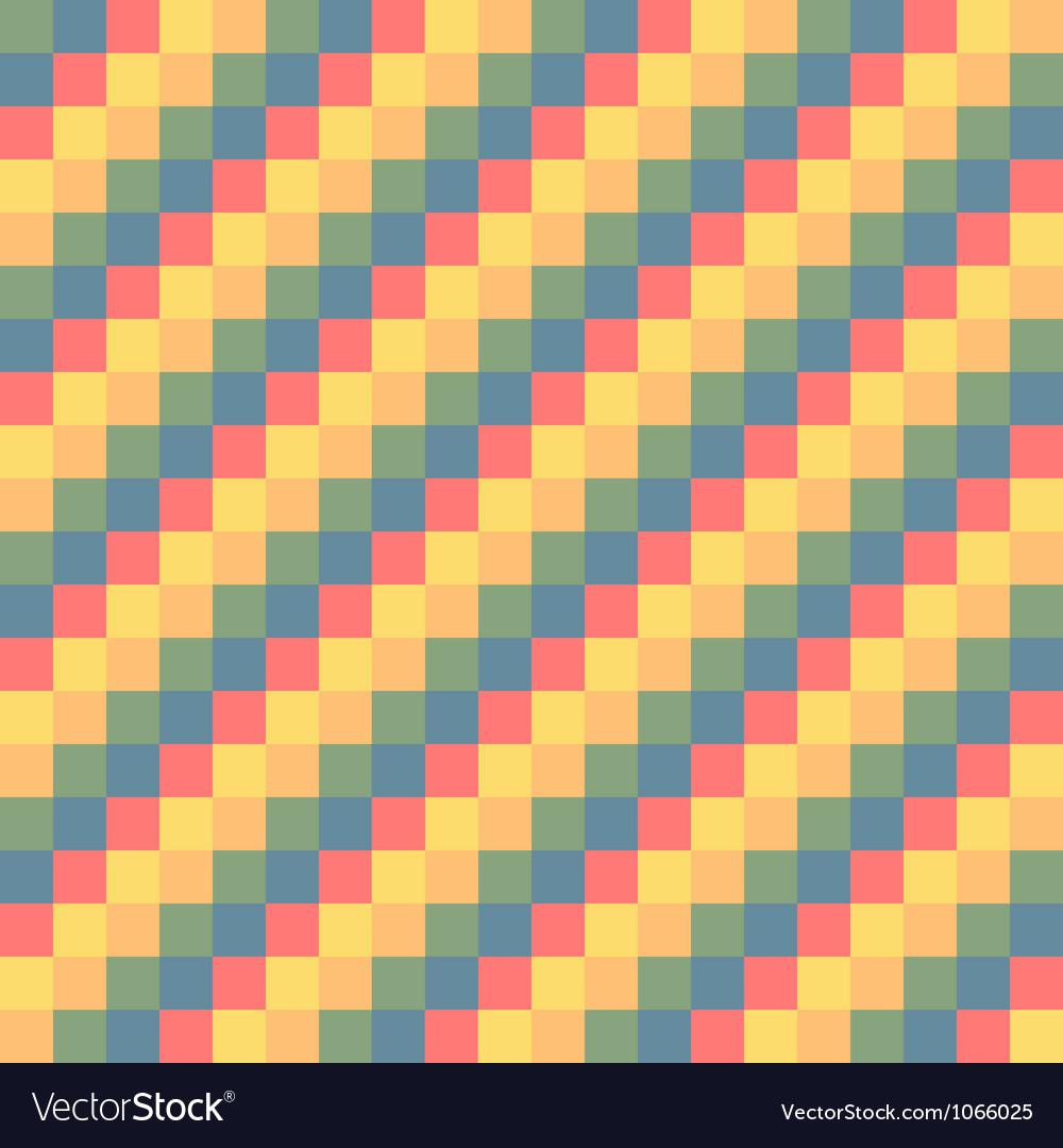 Pixel modern geometric seamless pattern ornament vector