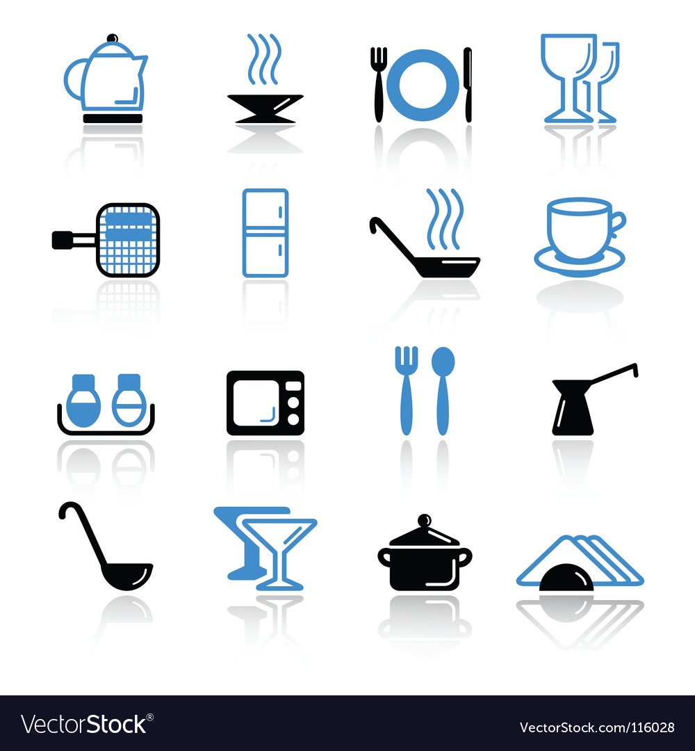 Kitchen utensils vector art - Download Kitchen vectors - 116028
