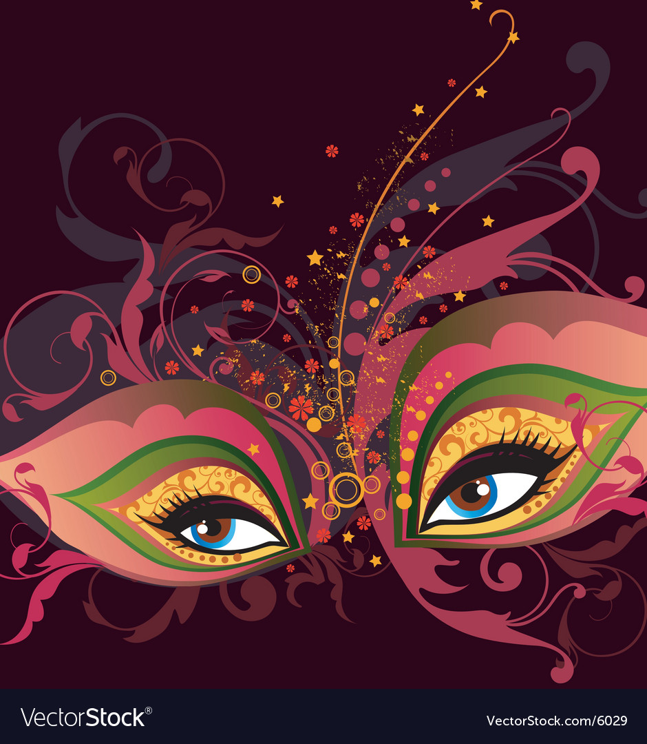 Party mask vector