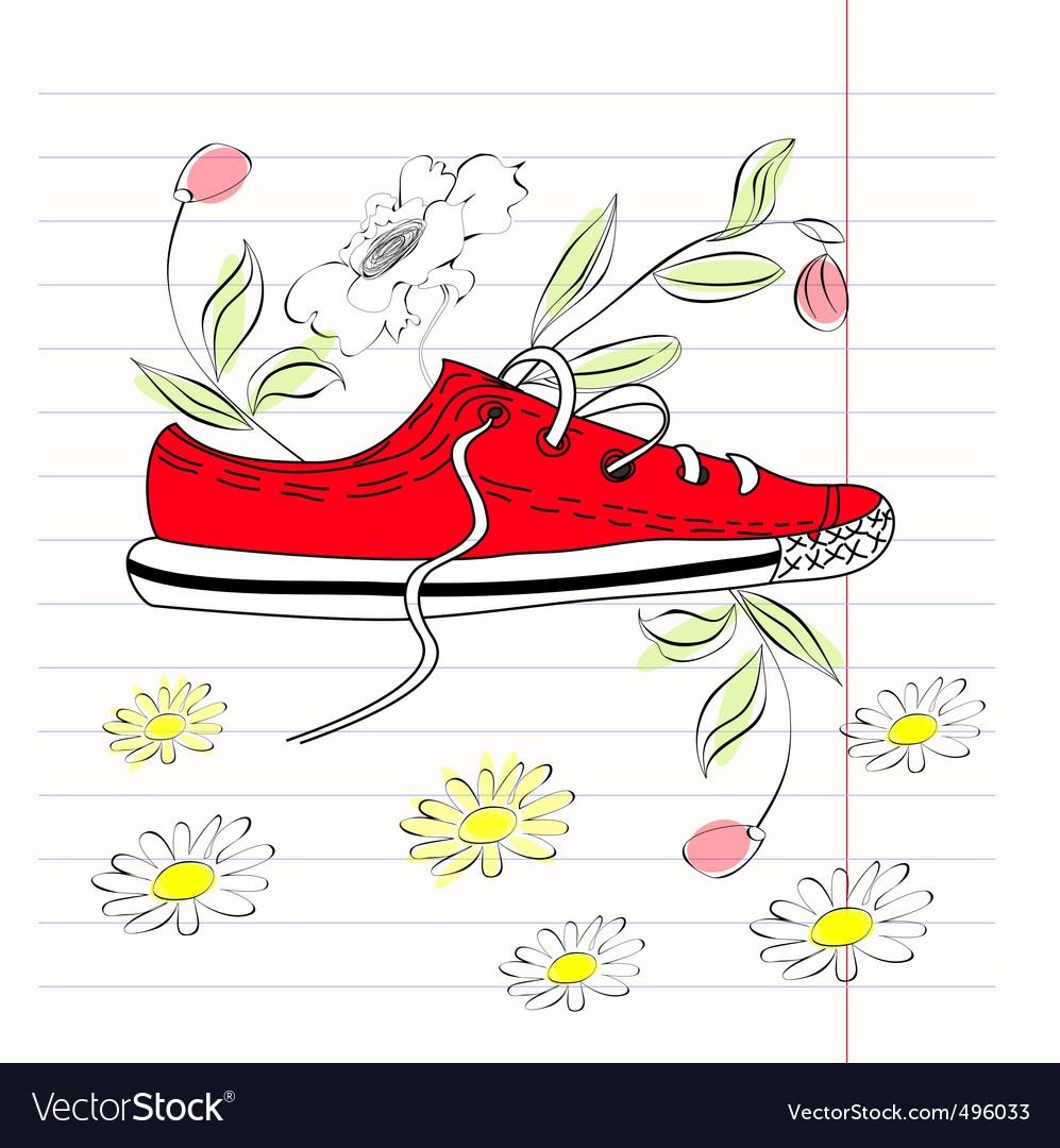 Shoe illustration vector