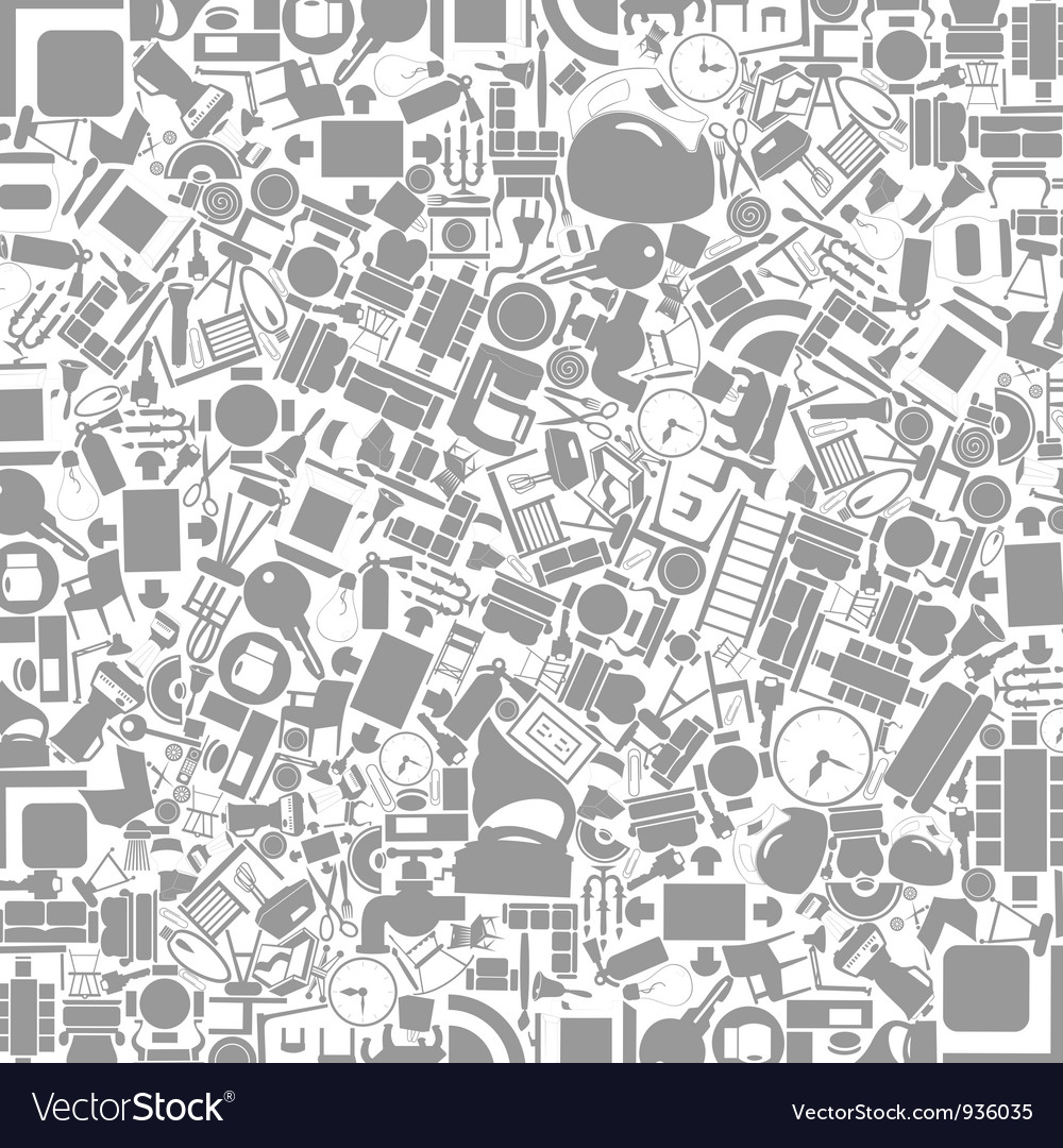 Furniture a background vector