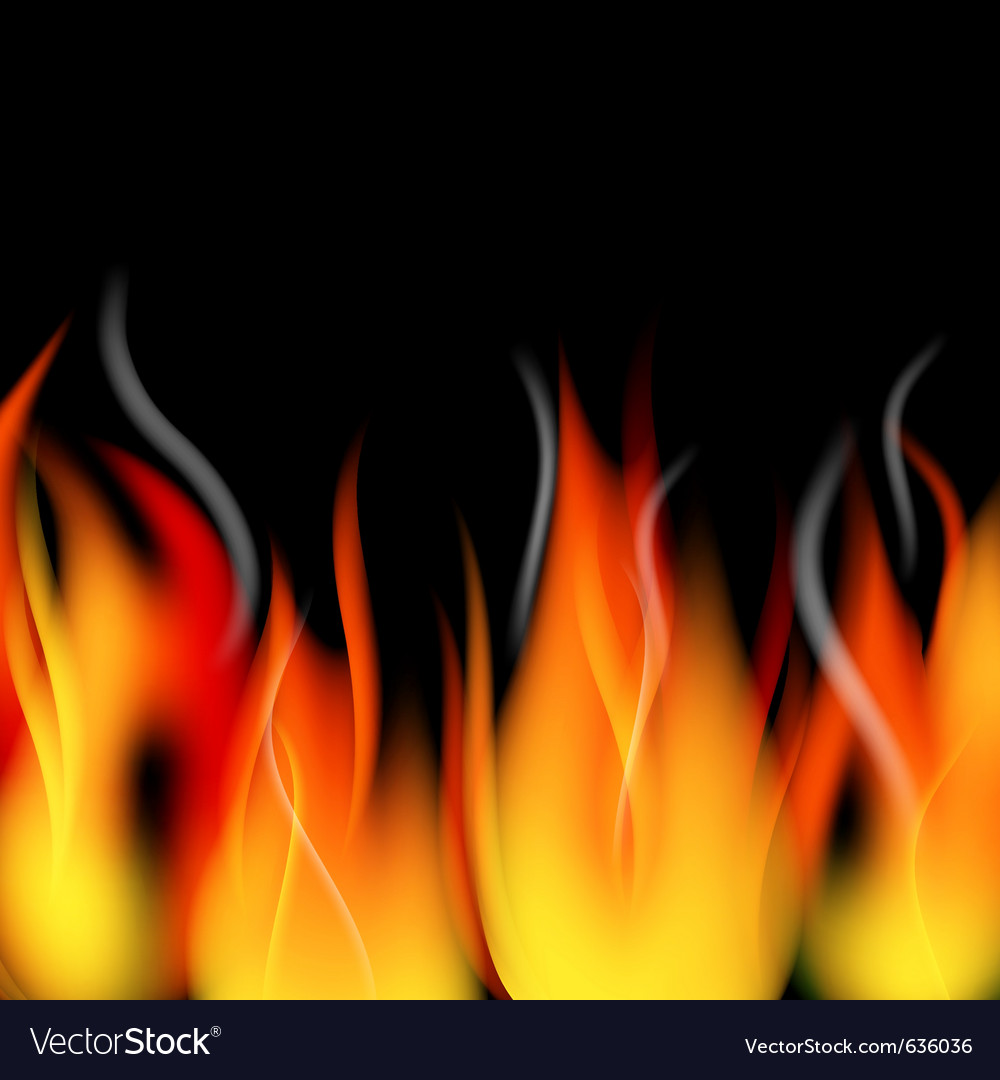 Fire flames and smoke vector