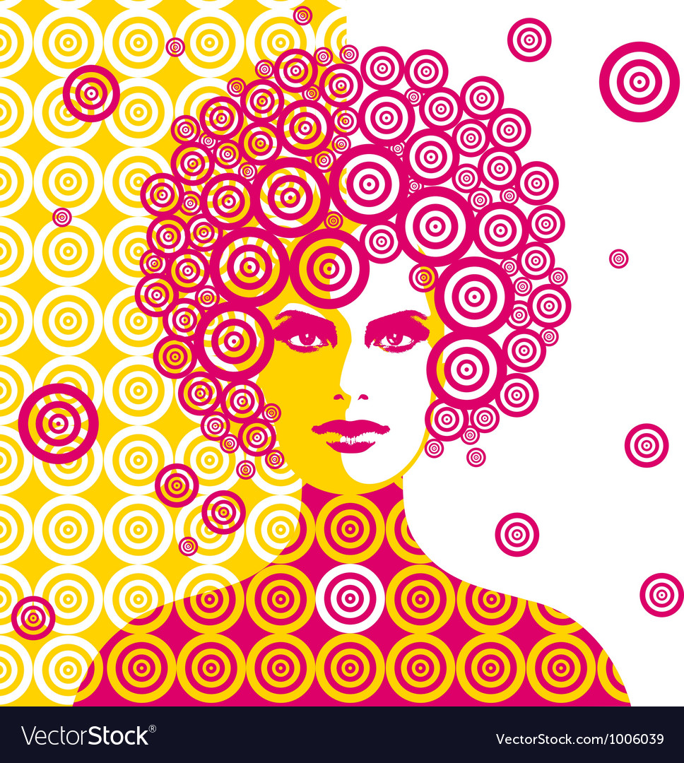 Sixties woman vector