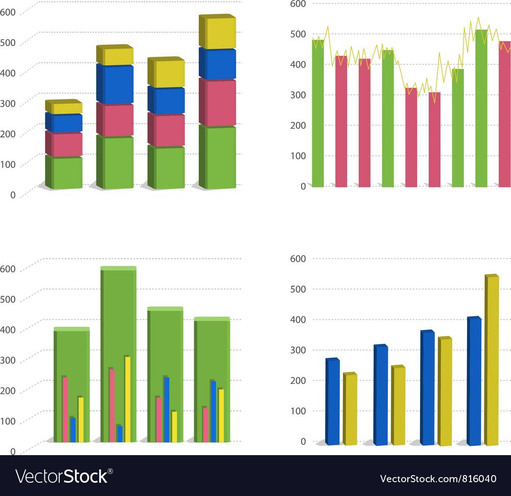 Bar chart graph vector