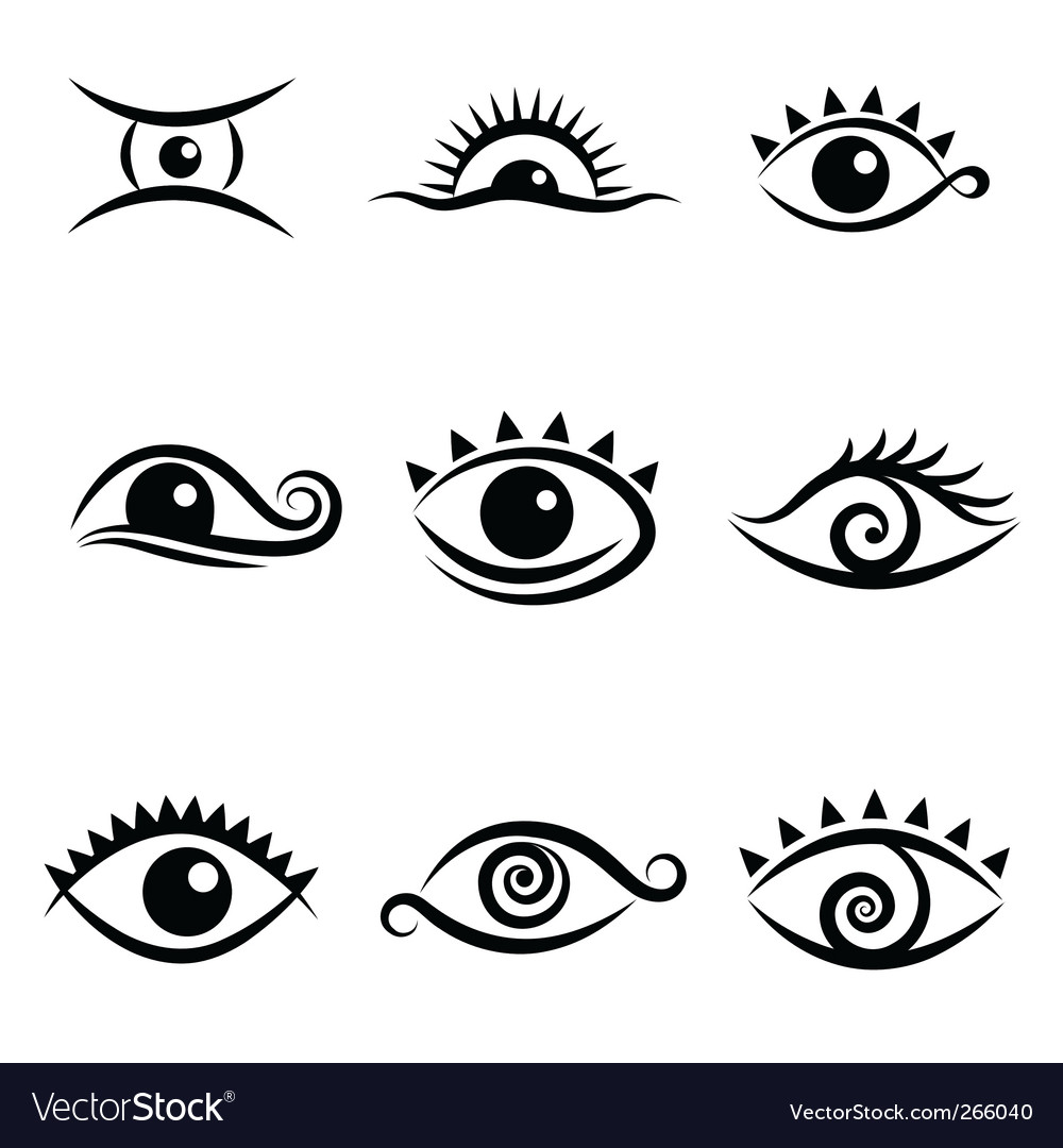 Eye symbol set vector