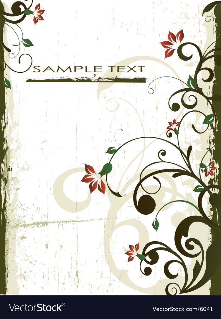 Antique floral grunge background vector