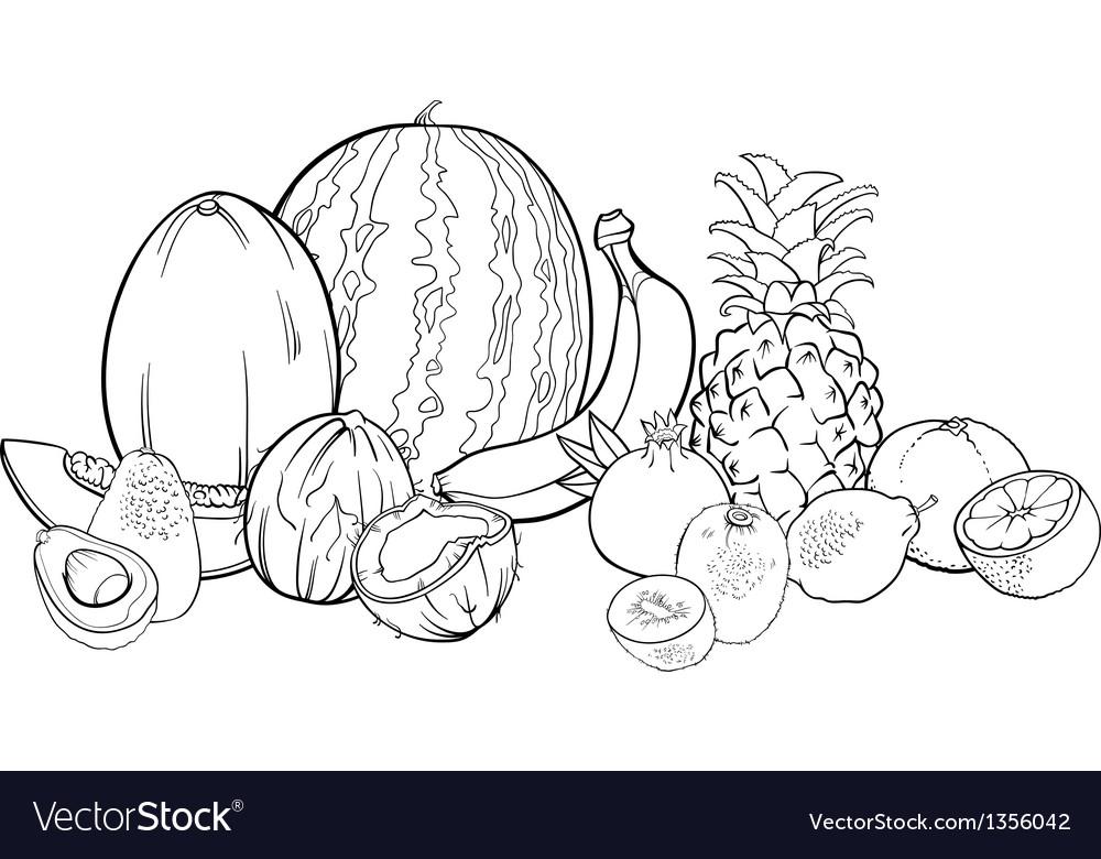 tropical fruits colour