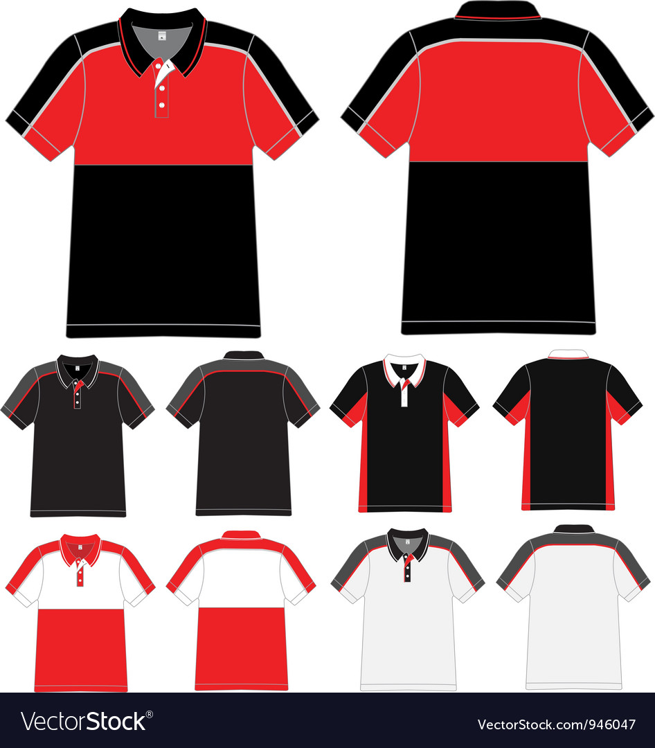 Polo t shirt design vector