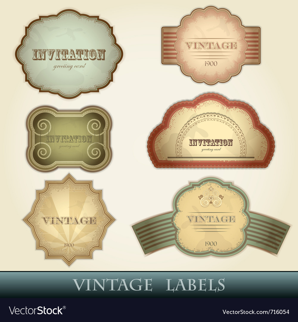 Vintage labels set - vector
