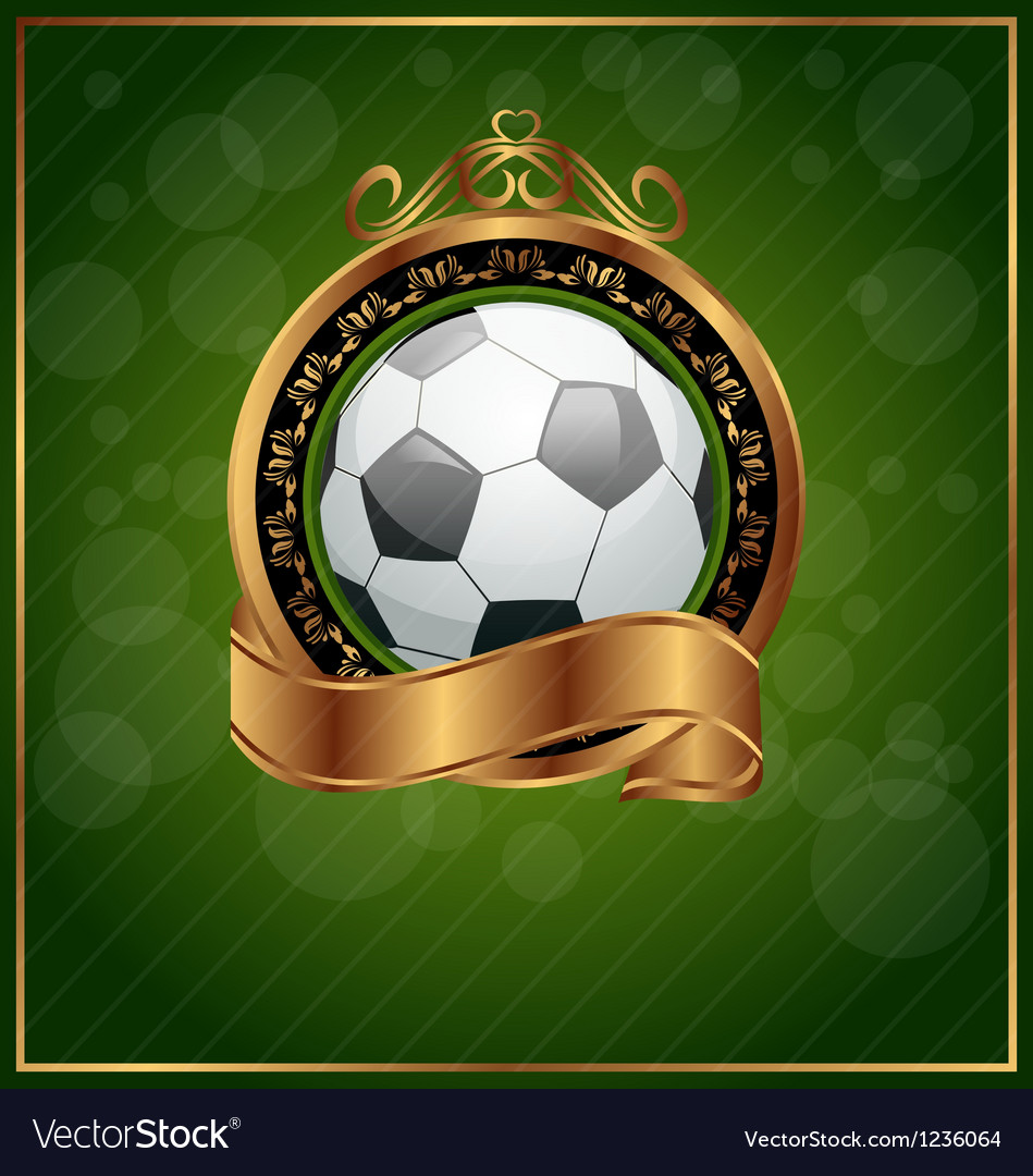 Football poster with place for your text vector