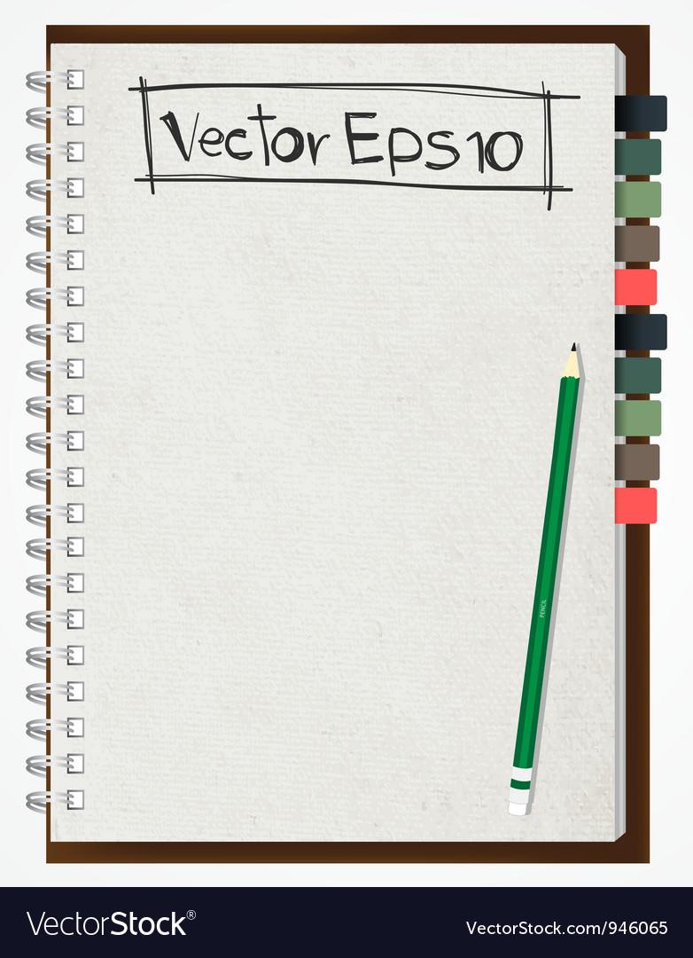 Paper notebook vector
