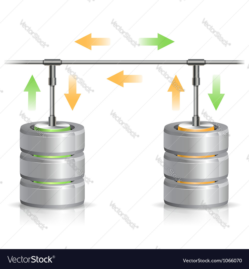 Database backup concept vector