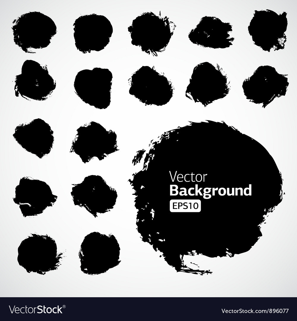 Abstract grunge shapes vector