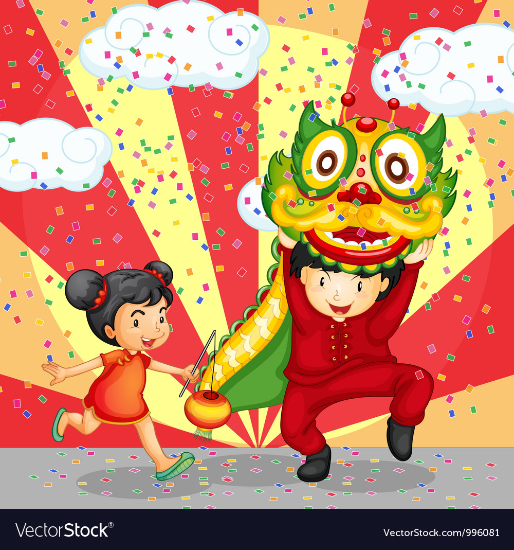 Chinese new years celebration vector