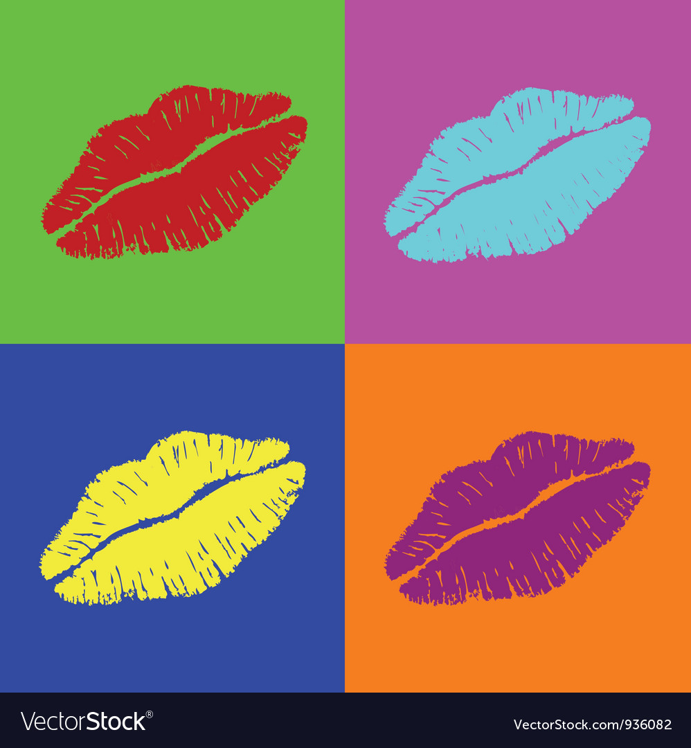 Warhol lips vector