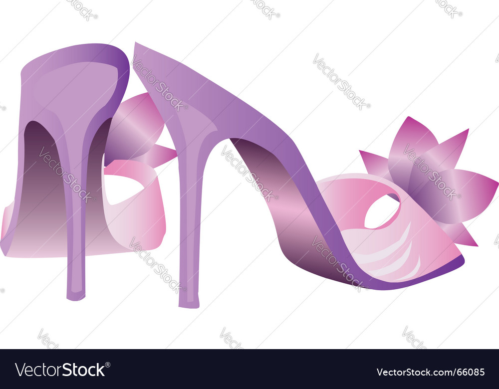 Glamor shoes vector