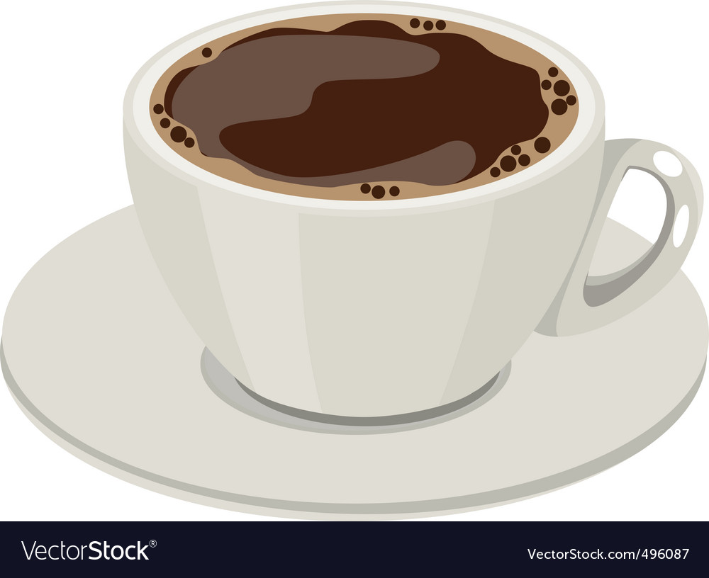Cup of hot coffee vector
